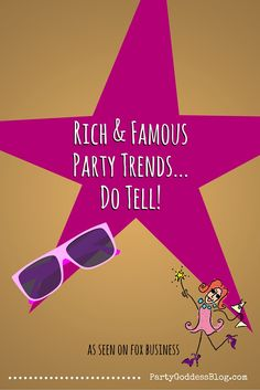 4 Celebrity Party Trends of the Rich & Famous! You won't want to miss this blog by Marley Majcher, one of the top celebrity event planners in Los Angeles, CA on Fox Business at http://thepartygoddess.com/rich-famous-party-trends-tell-video/ #celebs #hollywoodparty #trending