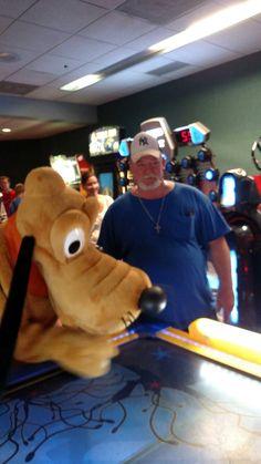 Me Gene Watching Pluto At Air Hockey Game In The Arcade Caribbean Beach Resort