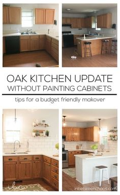 Kitchen Remodel On A Budget Easy budget-friendly ways to update your kitchen wit. Kitchen Remodel On A Budget Easy budget-friendly ways to update your kitchen without painting the cabinets! Budget Kitchen Remodel, Kitchen On A Budget, Kitchen Redo, Home Decor Kitchen, Home Kitchens, Kitchen Makeovers, Room Makeovers, 10x10 Kitchen, Ranch Kitchen