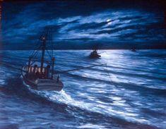 Into the night 45x60cm Seascape Paintings, Landscape Paintings, Painter Artist, Classic Paintings, Sunshine Coast, Australian Artists, Still Life, Waves, Night