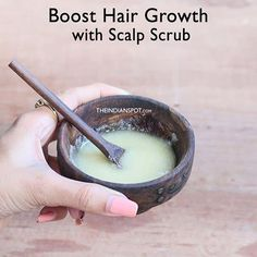 Boost Hair Growth With this Scalp Scrub Just as your skin needs exfoliation, your scalp needs it too. Product buildup, dandruff, clogged follicles etc. can stunt hair growth. There aren't many scalp scrubbing products in the market and the Overnight Hair Growth, Diy Hair Spray, Reduce Hair Fall, Scalp Scrub, Overnight Hairstyles, Best Beauty Tips, Beauty Tricks, Homemade Shampoo, Pink
