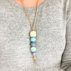 DIY Wooden Bead Necklaces // HUNT & GATHER // Better with handmade porcelain beads....?