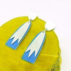 Blue earrings, blue enameled silver. New list!!!
