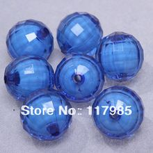 Gumball Chunky beads, Acrílico, Azul, Terra facetada esferas de contas, 20 mm(China (Mainland))