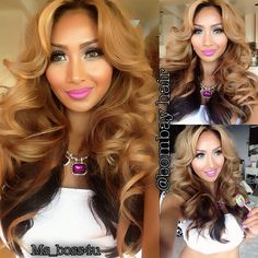 Curls volume honey caramel brunette Gorgeous wedding hair style 2014/2015 pretty new winter hair color hair style hair trends medium long layers and swoopy bangs curls cool vanilla ash platinum blonde balayage highlights peekaboos lowlights ombre natural clean makeup #JacQuelineK