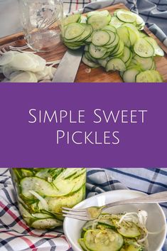 Homemade sweet pickles using a quick and easy DIY method. No fuss, no mess, nothing fancy and easy cleanup. Store in the refrigerator for a perfect compliment to your backyard barbecue. Sweet Refrigerator Pickles, Refrigerator Pickle Recipes, Easy Sweet Pickles Recipe, Homemade Pickles, Canning Pickles, Outfit Trends, Canning Recipes, Vegetable Recipes, Easy Diy