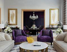 Interior Design for portfolio Interior, Purple Living Room, Office Interiors, Home Decor, Room Inspiration, House Interior, Living Room Inspiration, Interior Design, Luxury Office