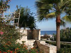 Platanias villa rental - garden view