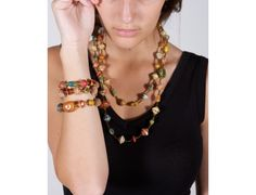 Multicolor bracelet and necklace!
