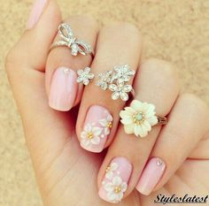 66 Pretty Pink Nail Art Ideas For summer 2016