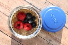 Yogurt with muesli and berries, or hot oatmeal with berries- Thermos, Ahoy! 15 Yummy Hot Lunch Ideas for Kids - ParentMap
