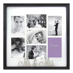 Occasions Mr. and Mrs. 7-Photo Wedding Collage Frame - BedBathandBeyond.com