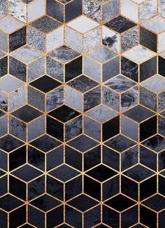 Daydream Cubes by Elisabeth Fredriksson as Canvas Print Luxury Wallpaper, Images Wallpaper, Wallpaper Backgrounds, Marble Effect Wallpaper, Motif Art Deco, Poster Online, Framed Prints, Canvas Prints, Art Mural