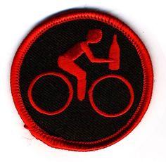 Drunk Biking Merit Badge. $4.00, via Etsy.