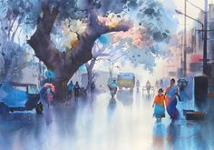 Watercolor by ejoumale/India