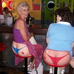 "Funny bar stools but it took a couple of seconds to ""get"" the joke."