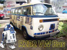 DIY 'Star Wars' Vehicle Wrap Turns Old VW Camper Into R2-D2 | Bored Panda