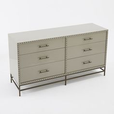 Nailhead 6-Drawer Dresser | West Elm