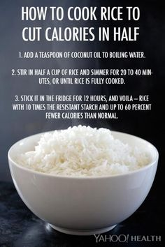 This Rice Cooking Trick Cuts Calories In Half (And It Involves Coconut Oil!)