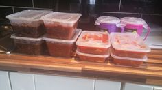 Slimming World batch cooking. Savoury mince, bolognese, chicken curry and leek & potato soup
