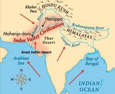 Harappa And MohenjoDaro Map Of The Indus River Civilizations - World map indus river