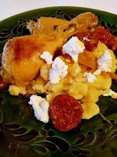 Szaftos csirke ~ savanyú káposztás sztrapacskával, ricottával