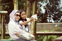 Selfie with Mom, Model : Tina Kayla, Az Zahra Kayla