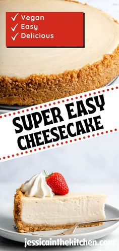 Vegan Cheesecake is just as delicious as traditional recipes! It's perfect if you eat a dairy-free diet and want something special. Even if you don't eat vegan, you will love this homemade cheesecake.