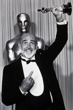"The only Bond to win an Oscar was Sean Connery. He won it for ""The Untouchables,"" not for a Bond movie. Sean Connery, James Bond, James Mcavoy, First Ladies, Michael Fassbender, Lana Turner, Classic Hollywood, Old Hollywood, Colin Firth"