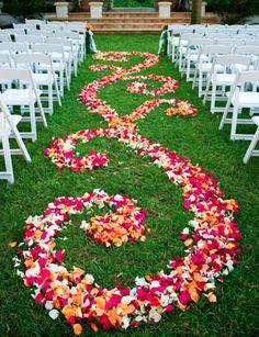 floral wedding aisles By LoveWedd