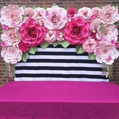 Quinceanera Party Planning – 5 Secrets For Having The Best Mexican Birthday Party Paper Flower Backdrop, Paper Flowers, Kate Spade Party, Flower Shower, 60th Birthday Party, Party Decoration, Quinceanera Party, Pink And Gold, Party Planning