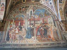hospitality and nurture at santa della scala Santa Maria, Siena, European Paintings, Fresco, Painting & Drawing, Design Inspiration, Van, House Design, Contemporary