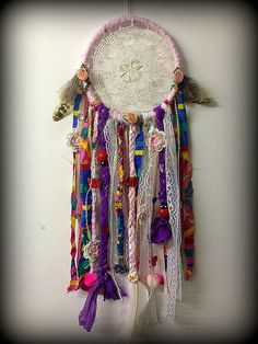 Pink Bug Garden Nature Boho American Gypsy Hippie bedroom dreamcatcher tribal native american on Etsy, $31.75