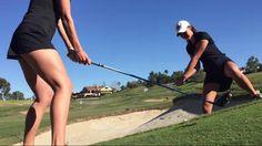 The San Diego State University women's golf team show us their amazing trick shot skills. Two Girls, These Girls, San Diego State University, Perfect Golf, Girl Gifs, Hot Pants, Ladies Golf, Sport Girl, Golf Tips