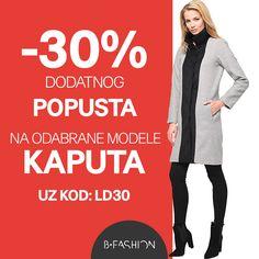 Iskoristite kod LD30 i kupujte kapute uz 30% dodatnog popusta! 💙 https://hr.bfashion.com/coats-discount💙 Akcija vrijedi do 07:00h 10.03.2017