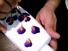 Simple One Stroke VIolet Flowers :) - YouTube