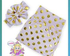 Girls gold white polkadot skirt pencil skirt Christmas back to school toddler girl skirts birthday summer clothes kids fashion