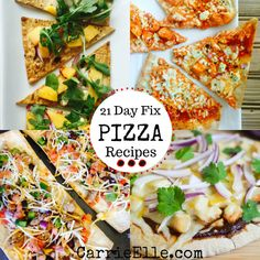 Pizza is one of those food I don't think I'll ever be able to give up. It's just too freakin' delicious. So if I can't give it up, I guess I'll have to modify it. These 21 Day Fix pizza recipes are a creative (and fun) way to get my pizza on. 21 Day Fix Diet, 21 Day Fix Meal Plan, Fixate Recipes, Healthy Recipes, Healthy Meals, Healthy Food, Drink Recipes, Pizza Legal, 21 Day Fix Chili