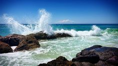 The mighty fury of the ocean reaching for the skies! #currumbin #currumbinbeach #goldcoast #qld #australia #sunshine #sun #surf #sand #power #waves #ocean #rocks #beach #travel #holiday #fun #spring #actionshot #visitgoldcoast #visitqueensland #ilovegoldcoast #igersgoldcoast #ausfeels #goldcoast4u by brad_rizzle http://ift.tt/1X9mXhV