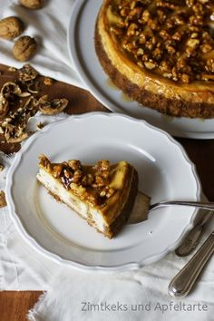 Meine kulinarische Reise führt nach Kanada mit einem Maple-Walnut-Cheesecake