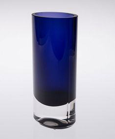 KAJ FRANCK - Glass vase for Nuutajärvi Notsjö, Finland. Glass Wall Lights, Glass Wall Art, Blue Glass Vase, Working Blue, Blue Cocktails, Stained Glass Designs, Shot Glass, Design Inspiration, Finland