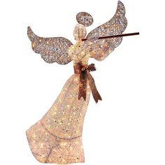 "Holiday Time 56"" PVC Vine Angel Light Sculpture"