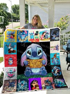 Lilo And Stitch Quilt Blanket 03 Mode Harry Potter, Lelo And Stitch, Cute Stitch, Cute Disney, Christmas Birthday, Family Gifts, Decoration, Creations, Cartoon
