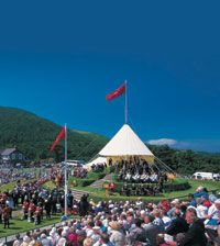 Tynwald Hill. This four-tiered hill is one of the Island's most distinctive landmarks and a signal of the Isle of Man's independence as a self-governing crown dependency.