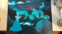 Cinderella - Sin-derella - WIP, acrylic painting