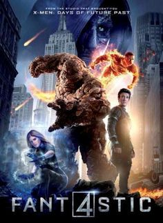Poster Of Fantastic Four (2015) In Hindi English Dual Audio 325MB Compressed Small Size Pc Movie Free Download Only At worldfree4u.com