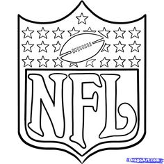 Printable nfl football coloring pages for kids. Print out nfl football coloring pages for preschool. Baseball Coloring Pages, Sports Coloring Pages, Coloring Pages For Boys, Coloring Pages To Print, Free Printable Coloring Pages, Coloring Book Pages, Coloring Sheets, Kids Coloring, Adult Coloring