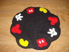 Mickey Mouse vela Mat decorativo estera Penny por 3LaughingPumpkins