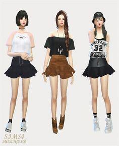 Trumpet Mini Skirt single color at Marigold via Sims 4 Updates