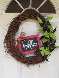 pinwheel grapevine wreath - Visicom Yahoo! Search Results
